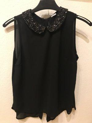 Ärmellose Schwarze Bluse