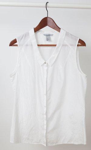 H&M Blouse sans manche blanc-blanc cassé soie