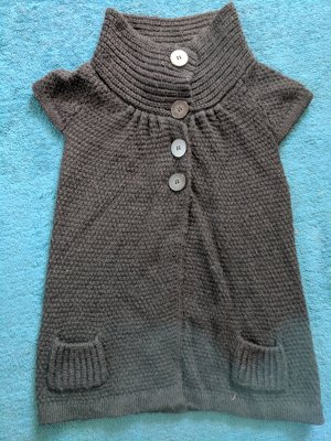 Comma Short Sleeve Knitted Jacket black wool