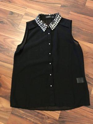 Ärmellose transparente Bluse