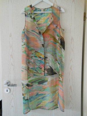 Ärmellose Vokuhila Bluse in Multicolor