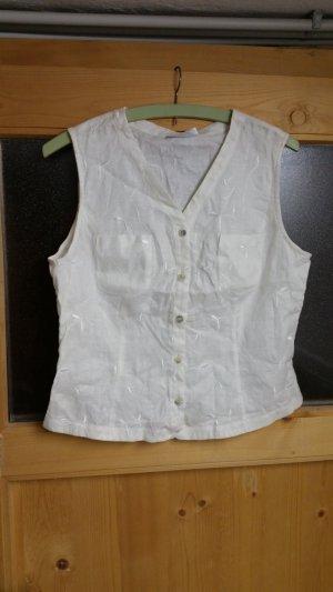 Ärmellose weiße Bluse