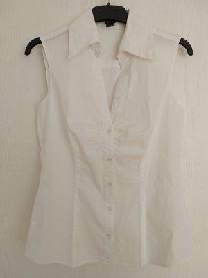Ärmellose weiße Bluse von Esprit