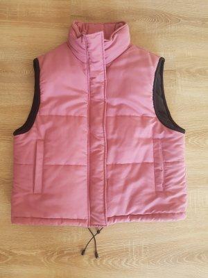 FlashLights Down Vest black-pink