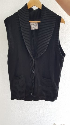 Esprit Gilet tricoté noir