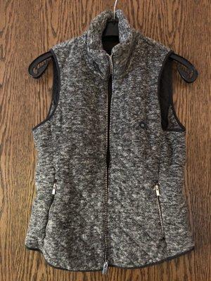 Abercrombie & Fitch Smanicato in pile grigio-nero