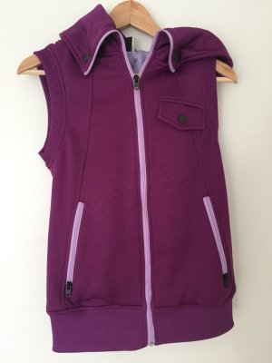 Burton Vest blackberry-red-mauve