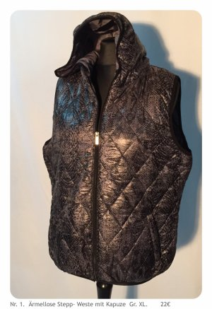 Quilted Gilet black-grey