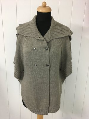 Topshop Short Sleeve Knitted Jacket grey brown