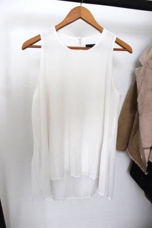 Zara Blusa senza maniche bianco
