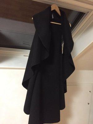 Ärmelloser Cardigan in schwarz