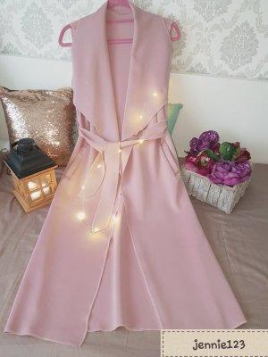 Gabardina tipo vestido color rosa dorado