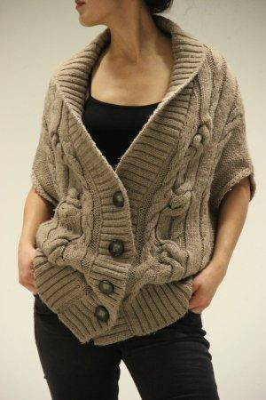 Ärmelloser Oversize Pullover/Strickjacke