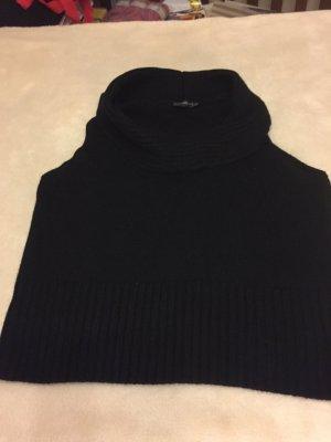 Ärmelloser Pullover mit großem Schalkragen