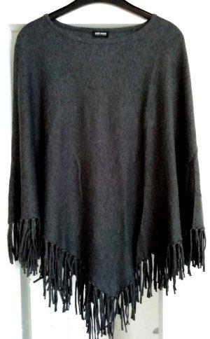 Gerry Weber Poncho in maglia antracite-grigio scuro Lana vergine