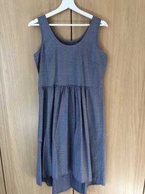 Empire Dress cornflower blue-white
