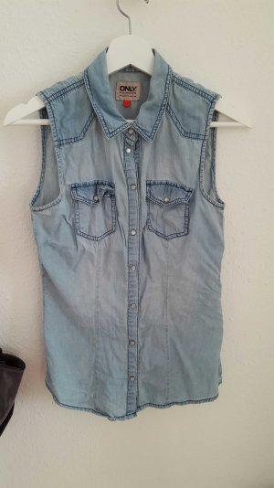 ärmelloses jeanshemd von only