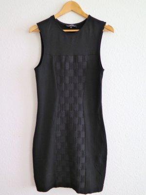 Ärmelloses Jerseykleid in Schwarz