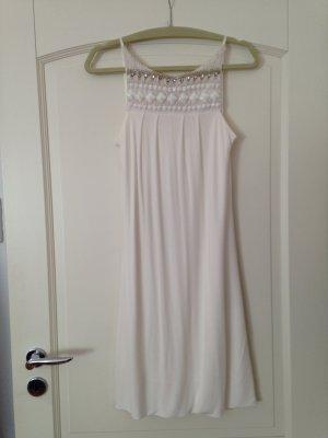 Ärmelloses Kleid in Ivory