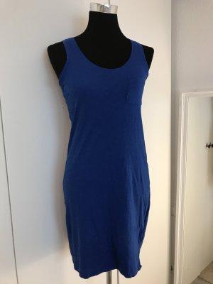 Ärmelloses Kleid in kräftigem Blau