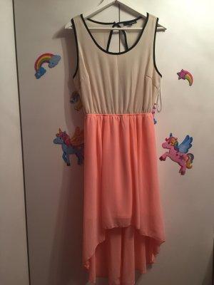 Ärmelloses Kleid mit rückenmuster