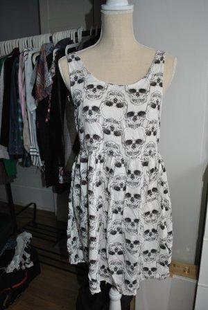 Ärmelloses Kleid mit Totenkopf-Design
