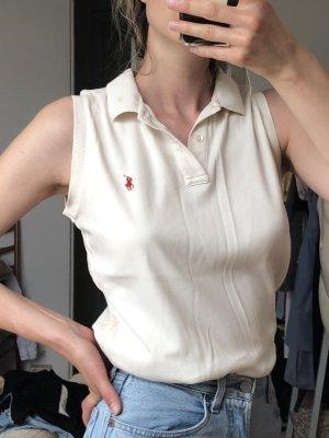 Ralph Lauren Top Polo bianco sporco Cotone
