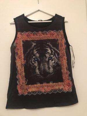 Ärmelloses Shirt Tigeraufdruck