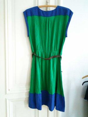Ärmelloses Sommerkleid in Gr. 42 von S.Oliver in blau grün
