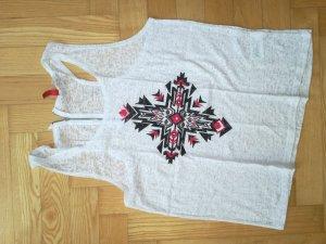 Ärmelloses T-Shirt in Weiß