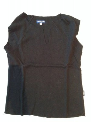 Ärmelloses T-Shirt mit raffiniertem Cut am Ausschnitt von Guess, Gr. S