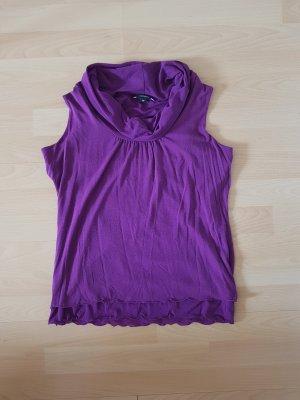 Comma Cowl-Neck Top lilac-dark violet