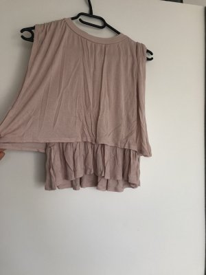 Zara Top color rosa dorado