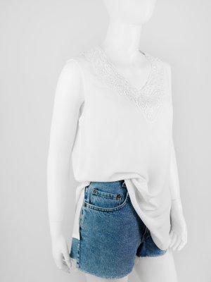 Blouse sans manche blanc polyester