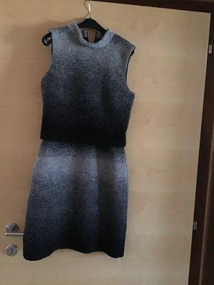 More & More Vestido de lana gris Lana
