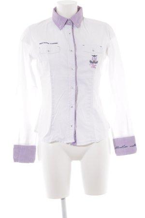 0cce1bb63b1 Aeronautica Militare Shirt met lange mouwen wit-mauve casual uitstraling