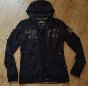 Aeronautica Militare Sweat Jacket dark blue-sand brown cotton
