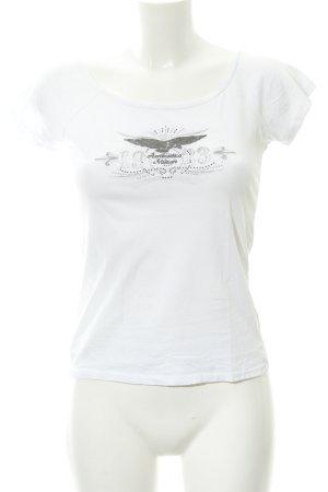 Aeronautica Militare T-Shirt white themed print casual look