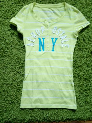 Aeropostale Shirt lime yellow-white