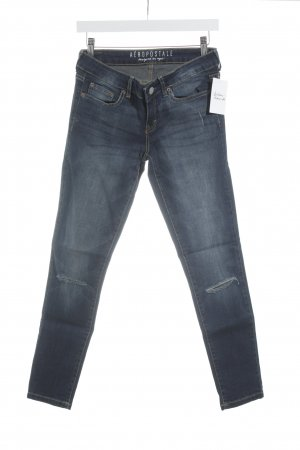 Aeropostale Jeggings dunkelblau Destroy-Optik