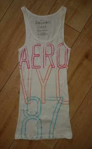 Aeropostale Top long blanc coton