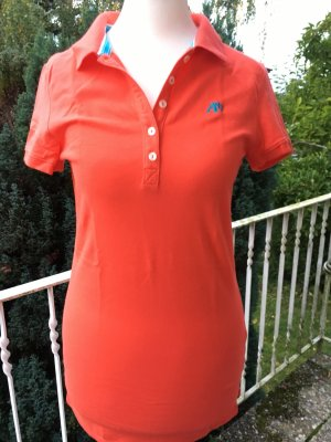 Aeropostale Poloshirt, orange, Größe S
