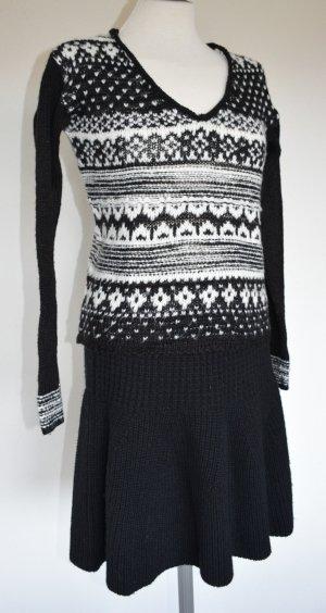 Aeropostale Pull norvégien blanc-noir laine