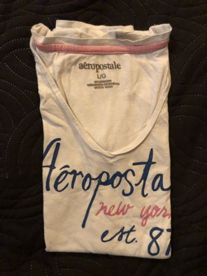 Aeropostale V-Neck Shirt white
