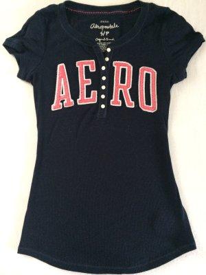 AEROPOSTALE Shirt Navy pink GR. S
