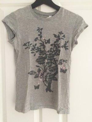 Aeropostale, Shirt, T-Shirt, grau, Print, S, 36