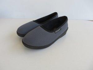 Zapatillas para casa negro tejido mezclado
