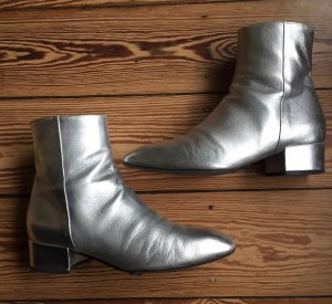aeyde Low boot gris clair cuir