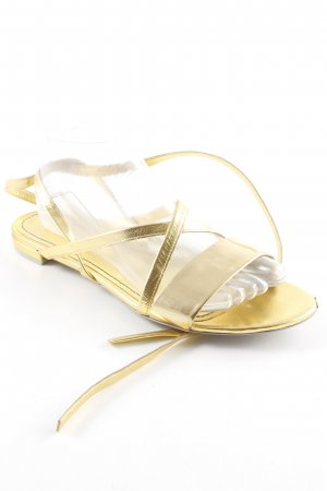 aeyde Strapped Sandals gold-colored casual look