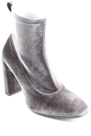 aeyde Schlüpf-Stiefeletten graugrün klassischer Stil